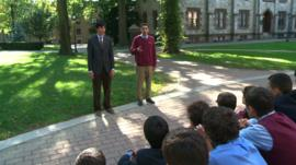 Mock debate at Fordham University