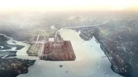 One suggestion is to build a runway in the Thames Estuary