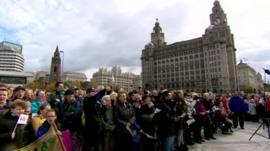 Beatles world record set at Liverpool's Pier Head