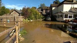 Floods in Littlehempston