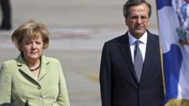 German Chancellor Angela Merkel and Greek PM