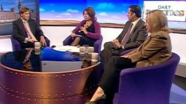 Steve Brine, Anas Sarwar and Lorely Burt