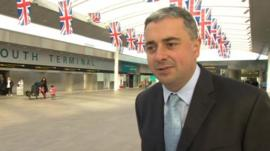 Gatwick chief executive Stewart Wingate