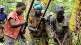Women survivors of rape in DRC