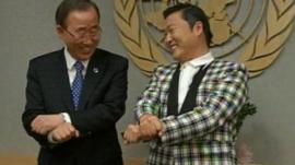 Ban ki-Moon and Psy
