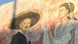 Mural on wall