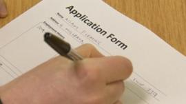 Filling in application form