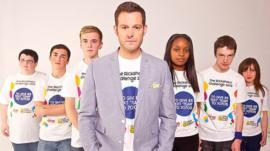 Matt Baker and his rickshaw team