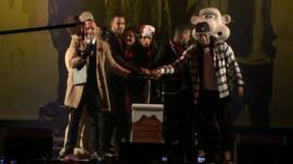 JLS turn on the Christmas lights in South Gloucestershire