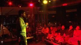 Nigerian comedian in Dubai