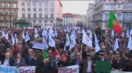 Protesters in Portugal have taken to the streets in recent weeks