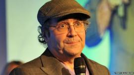 Danny Baker at the Radio Academy Hall of Fame ceremony