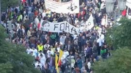 Anti austerity protesters