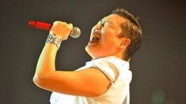 South Korean singer Park Jae-sang, or Psy