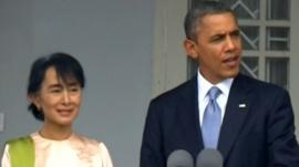 Aung San Suu Kyi and Barack Obama