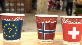 Flags on cups