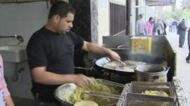 Falafel vendor