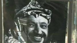 A poster of Yasser Arafat