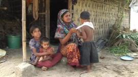 Sameera Begum with her children