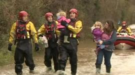 Family rescued in Sandhurst