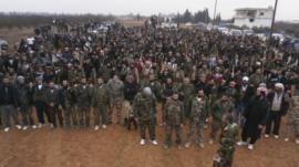 Free Syrian Army fighters near Homs