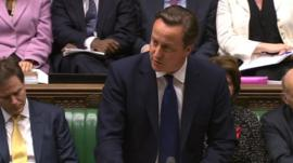 David Cameron in House of Commons