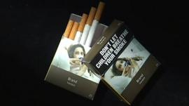 Unbranded cigarette packets