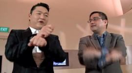 Rico and Psy do Gangnam style