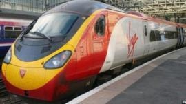 A Virgin train