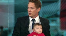 Professor Eric Anderson and son