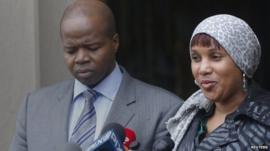 Nafissatou Diallo and her lawyer