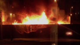 Lorry fire in Stoke-on-Trent