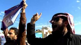 Protesters in Jordan