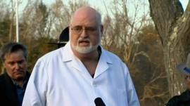Chief medical examiner Dr H Wayne Carver II at a press conference