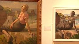 A contrast of the original and new work at Penlee House Gallery