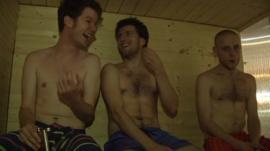 Men in a sauna