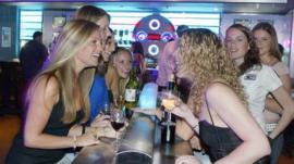 Women in a night club