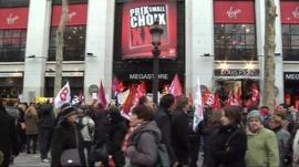 Virgin Paris protest