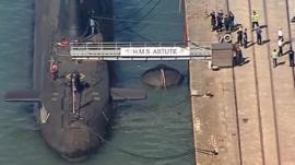 HMS Astute in Southampton