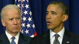 Vice-President Joe Biden and President Barack Obama