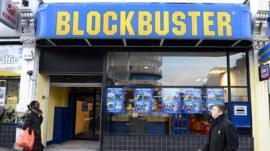 Blockbuster store in London