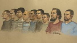 The nine men, from Berkshire and Oxfordshire, are accused of sexually exploiting six girls, aged between 11 and 15
