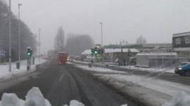 A snowy Roundhay Road