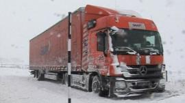 Stranded lorry