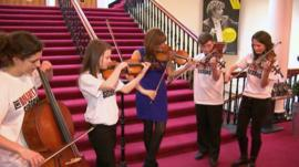 Nicola Benedetti and young musicians