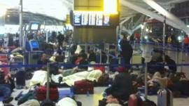 Passengers at Heathrow airport