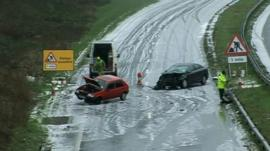 Road accident scene