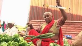 Vegetable seller in India