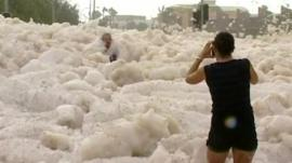 Foam in Mooloolaba