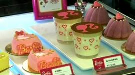 First Barbie-themed cafe opens in Taiwan